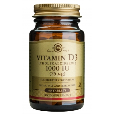 Vitamin D3 1000IU veg. tabs 90s