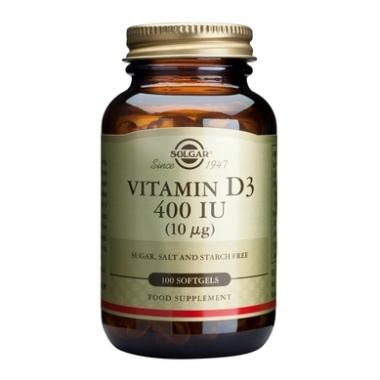 Vitamin D3 400IU softgels 100s