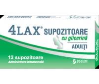 4Lax adulti supozitoare cu glicerina x 12