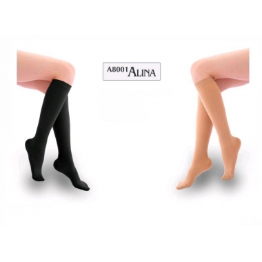 Ciorapi sub genunchi lungi negru L AL-8001