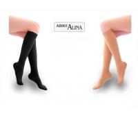 Ciorapi sub genunchi lungi negru XXL AL-8001 15-20