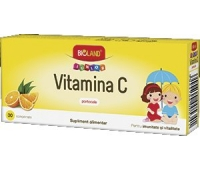 Vitamina C aroma portocale Bioland Junior 20cpr
