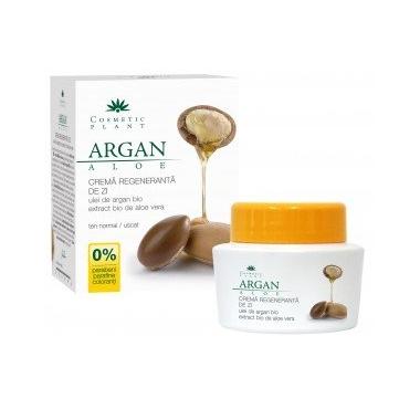 Crema regeneranta de zi cu ulei de argan si aloe (Bio) 50ml