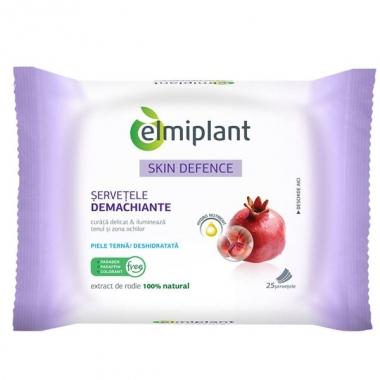 Servetele demachiante Skin Defence 25buc