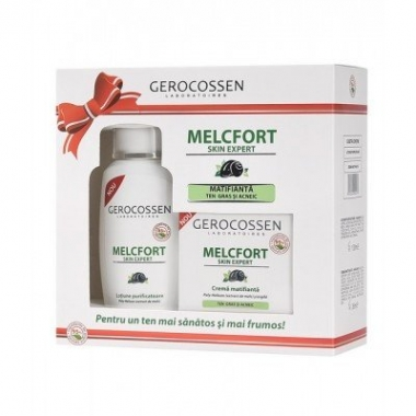 Set cadou Melcfort (crema matifianta + lotiune purificatoare GRATIS)