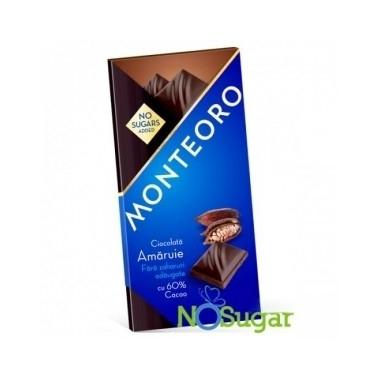 ciocolata amaruie f zahar monteoro 90 gr