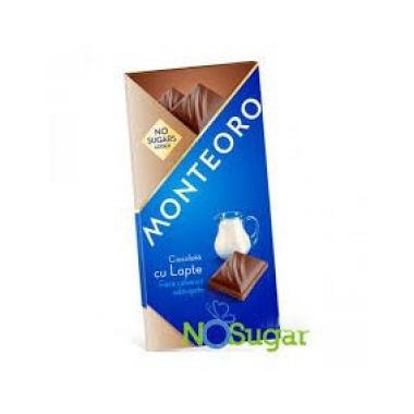Ciocolata lapte f zahar monteoro 90 gr