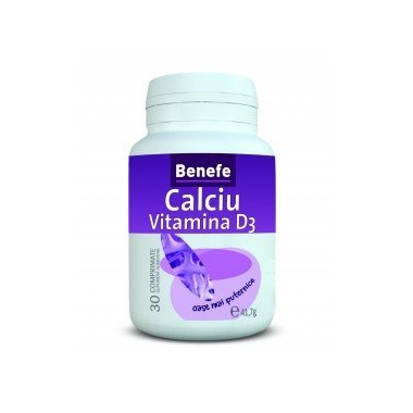 Calciu vitamina D3 30cpr
