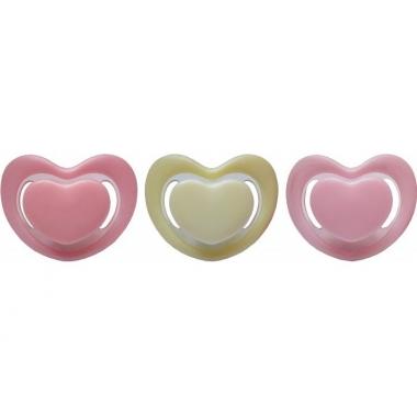 Suzeta silicon ortodontica forma inima 0L+ (R0329)