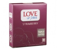 Prezervative Love Plus Strawberry 3buc