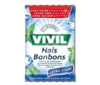 Vivil bomboane Extra Stark menta cu vitamina C fara zahar 60g