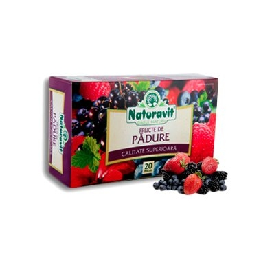 Naturavit fructe de padure 20dz x 1,5g 7+1 GRATIS