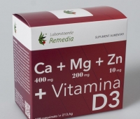 Ca+Mg+Zn+Vitamina D3 120cpr