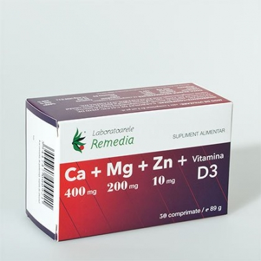 Ca+Mg+Zn+Vitamina D3 50cpr