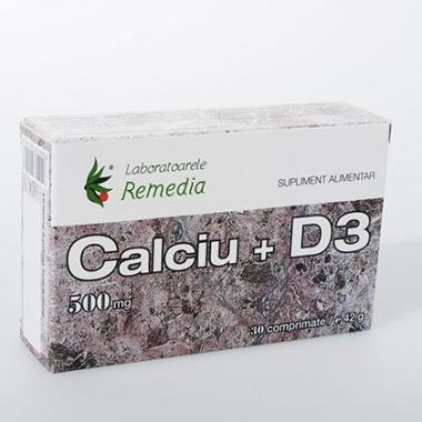 Calciu + D3 500mg 30cpr