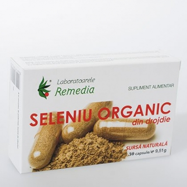 Seleniu organic 200mcg 30cps