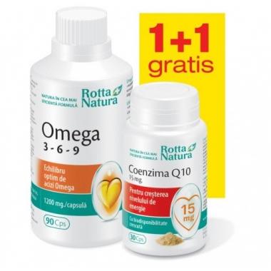 Omega 3-6-9 90cps + Coenzima Q10 15mg 30cps