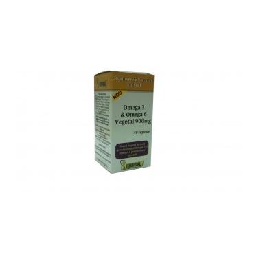 Omega 3 & Omega 6 Vegetal 900 mg x 40 cps