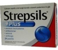 Strepsils Plus X 24 pastile