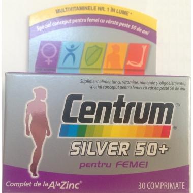 Centrum Silver 50+ femei x 30 cpr, Pfizer