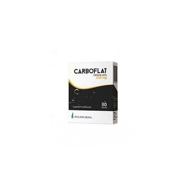 CARBOFLAT (CARBUNE ACTIV) 250MG 20CPS POLIPHARMA