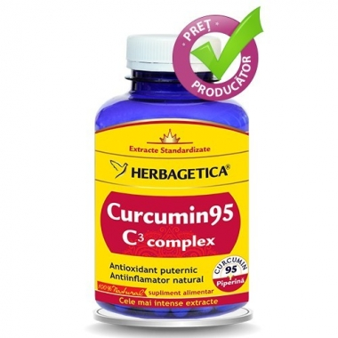 CURCUMIN95 C3 COMPLEX 120CPS, HERBAGETICA
