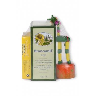 BRONCAMIL 150ML + VITAMINA C CAPSUNI + CADOU GRATIS, BIOEEL