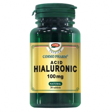 ACID HIALURONIC 100MG 30CPR, COSMO PHARM - PREMIUM