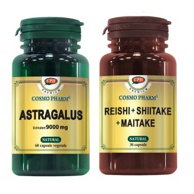 ASTRAGALUS 60CPS+REIS.SHIIT.MAITAKE 30CPS GRATIS, COSMO PHARM - PREMIUM