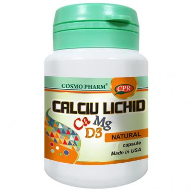 CALCIU LICHID PREMIUM 60CPS, COSMO PHARM - PREMIUM