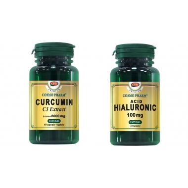 CURCUMIN 60CPS+AC.HIAL.100MG 30CPR GRATIS, COSMO PHARM - PREMIUM