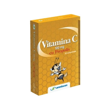 VITAMINA C PROPOLIS 100MG 2OCPR, AMNIOCEN