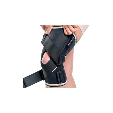 Orteza genunchi mobila benzi elastice incrucisate