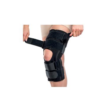 Orteza de genunchi mobila cu articulatii reglabile