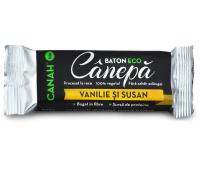BATON DIN SEMINTE DE CANEPA CU VANILIE & SUSAN ECO 48gr CANAH