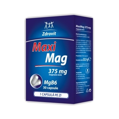 MaxiMag 375mg x 30 cpr, ZDROVIT