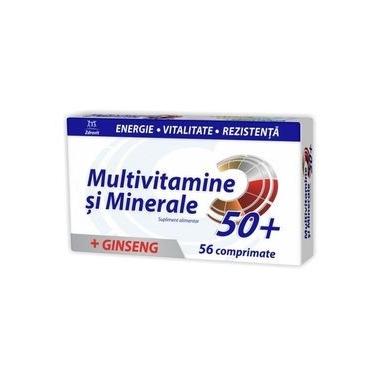 Multivitamine si Minerale cu Ginseng 50+, 56 comprimate, Zdrovit
