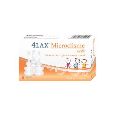 Microclisme copii 4Lax, 6 unidoze x 3 g