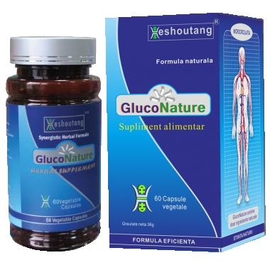 GlucoNature 60cps ( TRATARE DIABET 1 )