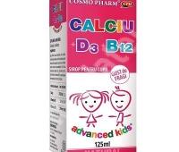Advanced Kids Sirop Calciu + D3 + B12 125ML