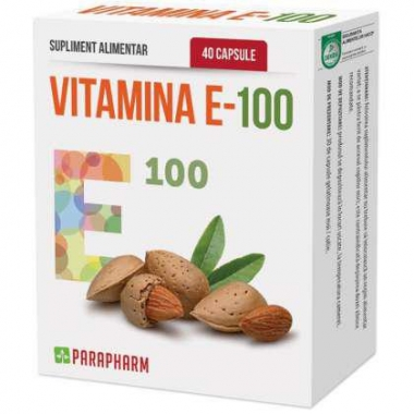 VITAMINA E 100 PARAPHARM 40 CPS