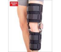 Orteză de genunchi mobilă, cu articulaţii reglabile COOL ROM