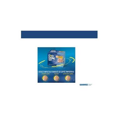 Exoderil set 50 mg/ml lac de unghii medicamentos x 2,5ml