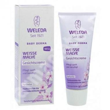 Crema de fata cu nalba alba Baby Derma, 50 ml, Weleda