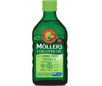 MOLLER'S COD LIVER OIL OMEGA 3 aroma de mere verzi