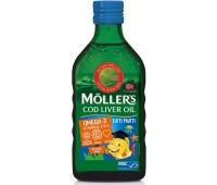 MOLLER'S COD LIVER OIL OMEGA 3 aroma de tutti frutti