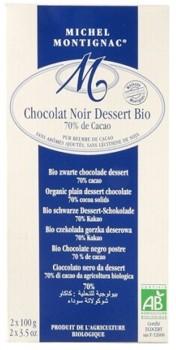 Ciocolata neagra 70% Montignac 200 gr