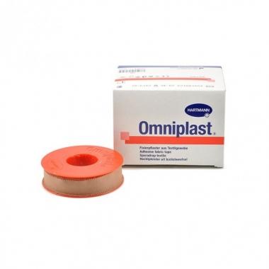 Plasture hipoalergen pe suport textil, Hartmann Omniplast, 1,25cm x 5m