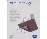 Atrauman Ag, impregnate cu unguent neutru si argint, 10 cm x 10 cm, 10 buc.