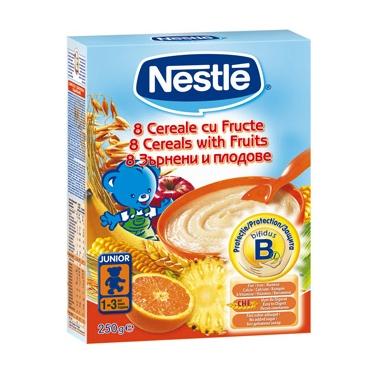 Nestle 8 Cereale Fructe, 250 gr